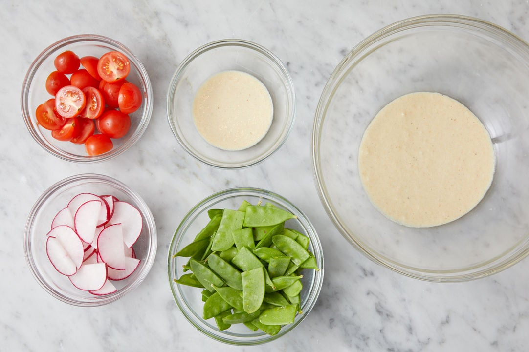 Prepare the ingredients & make the dressing: