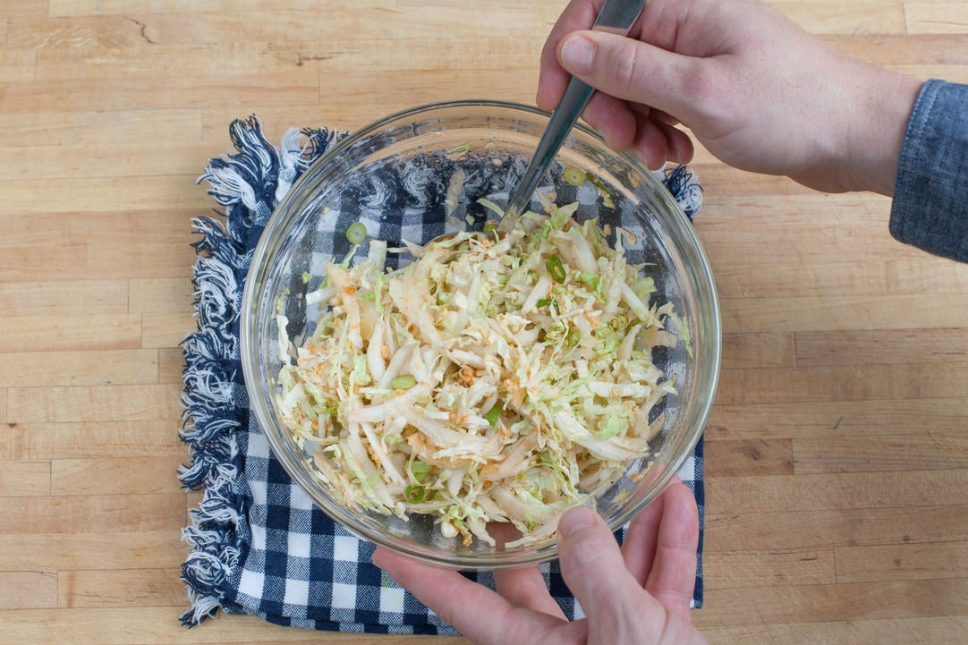 Make the quick kimchi: