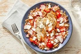 Greek Chicken & Farro Salad with Lemon-Oregano Dressing