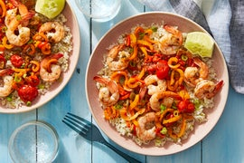 Spicy Veracruz-Style Shrimp with Brown Rice