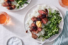 Seared Steaks & Miso Butter with Marinated Bok Choy
