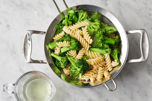 Cook the broccoli & pasta: