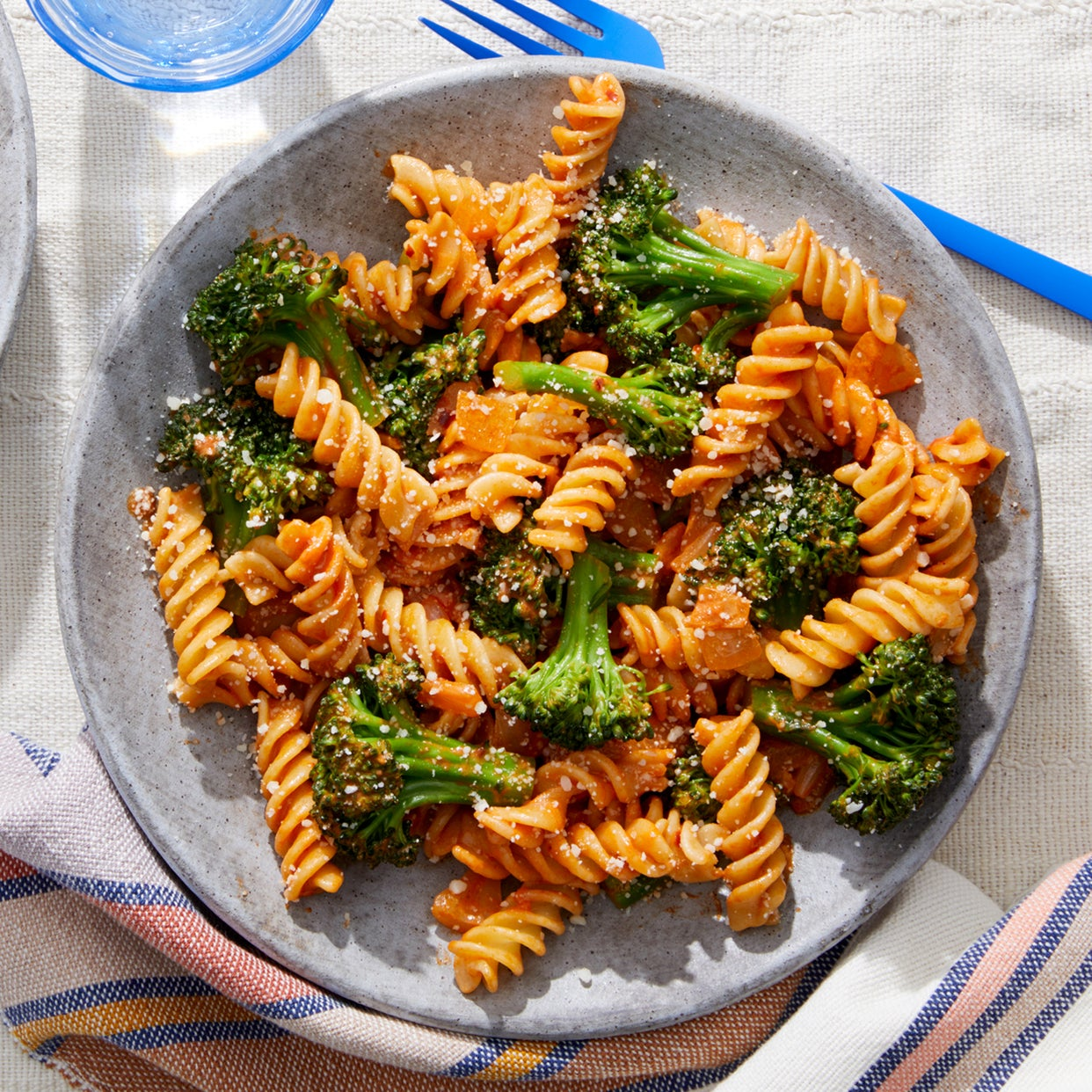 Fresh Fusilli & Broccoli with Tomato Sauce  & Pecorino Cheese