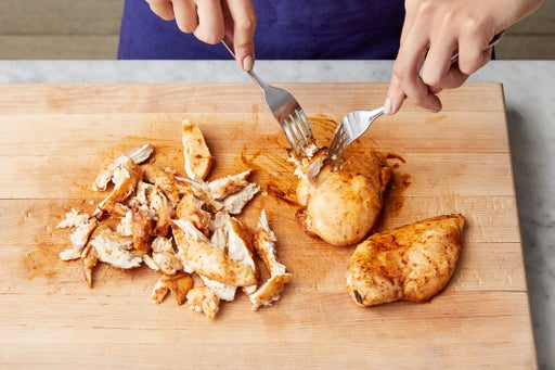 Bake & shred the chicken: