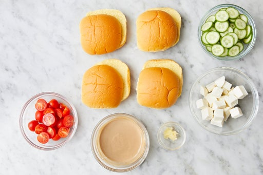 Prepare the ingredients & make the balsamic mayo: