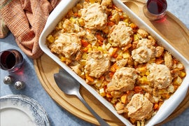 Country-Style Chicken & Biscuits with Vegetables