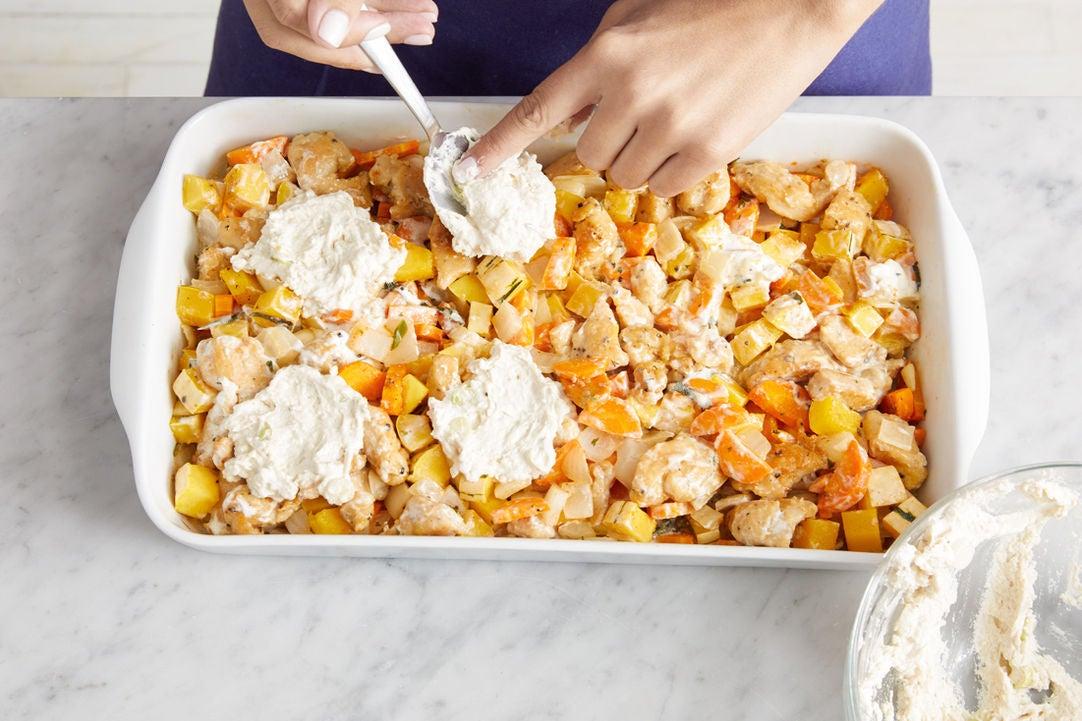 Assemble, bake, & serve the casserole: