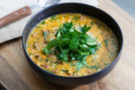Lamb & Butternut Squash Soup with Spinach & Barley