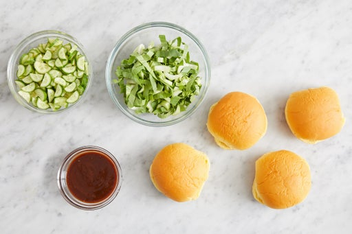 Prepare the ingredients & make the soy-miso mayo:
