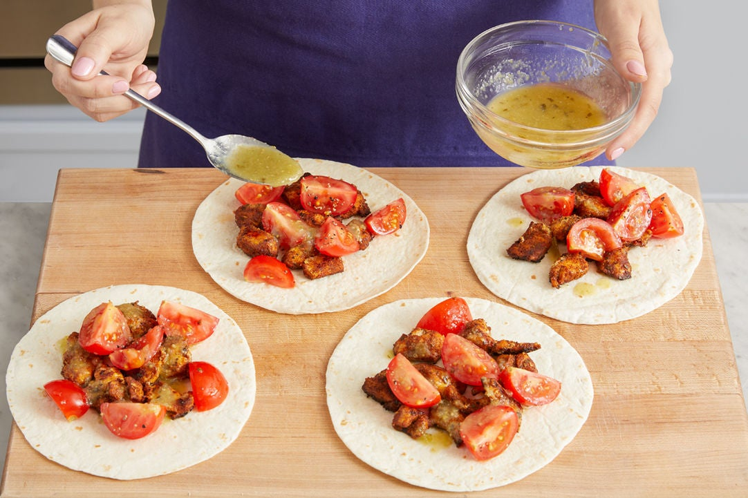 Make the tacos & serve your dish:
