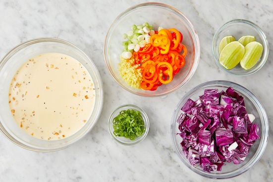 Prepare the ingredients & start the sauce:
