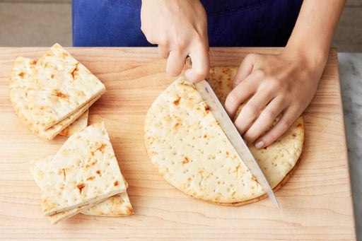 Make the pita wedges: