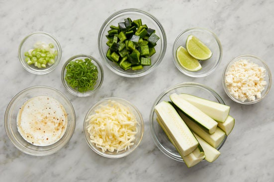 Prepare the ingredients & make the lime crema:
