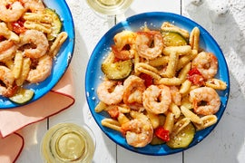Cavatelli & Shrimp with Summer Vegetables