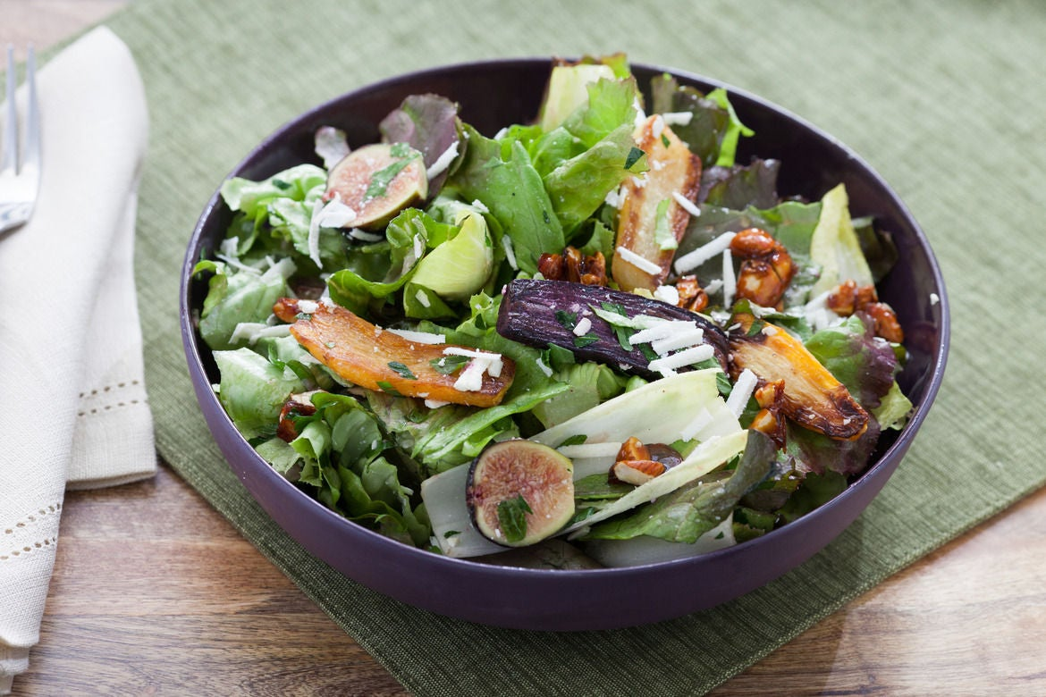 Recipe: Roasted Heirloom Carrot Salad with Candied Almonds, Figs ...
