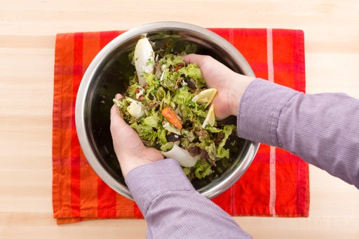 Assemble the salad & plate your dish: