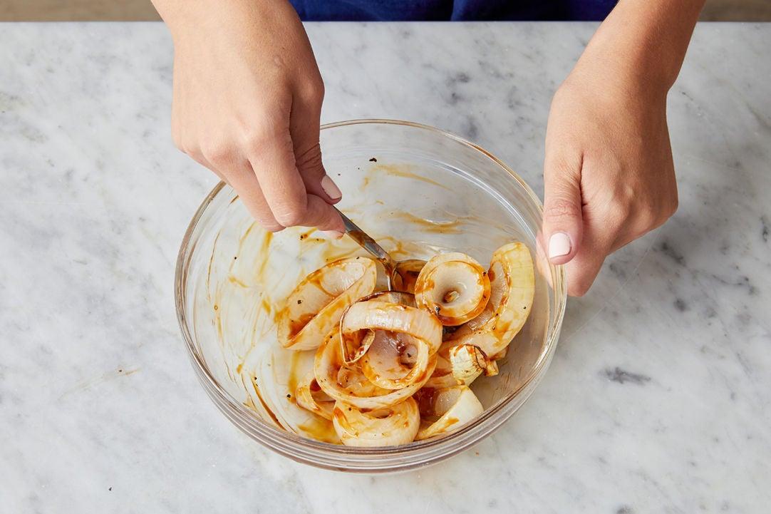 Roast & glaze the onion: