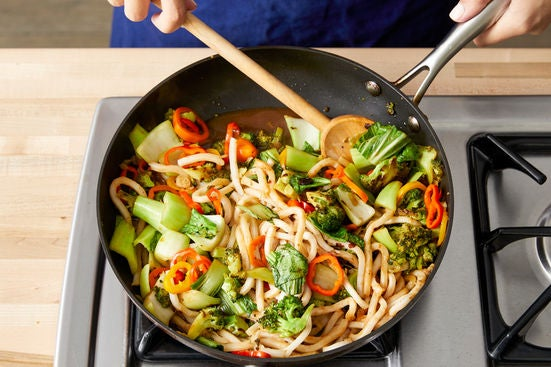 Finish the stir-fry & serve your dish: