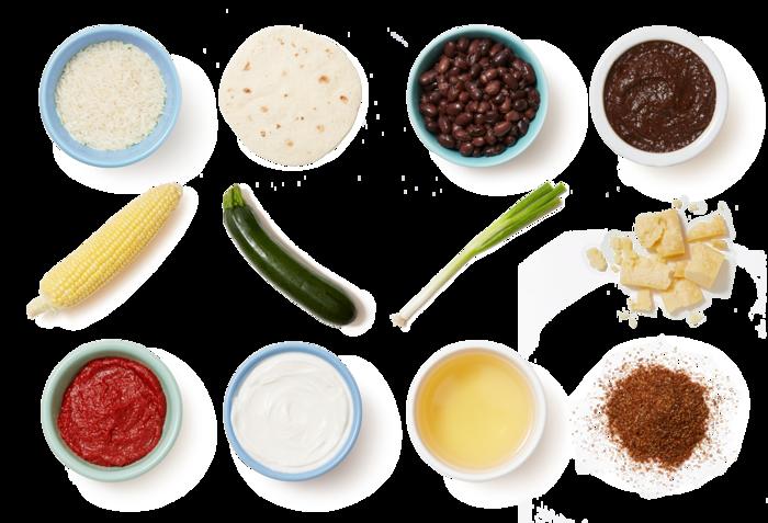 Black Bean & Zucchini Enchiladas with Cheddar Cheese