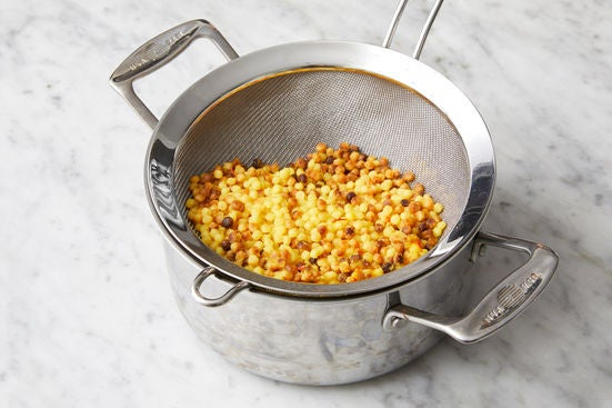 Make the saffron pasta: