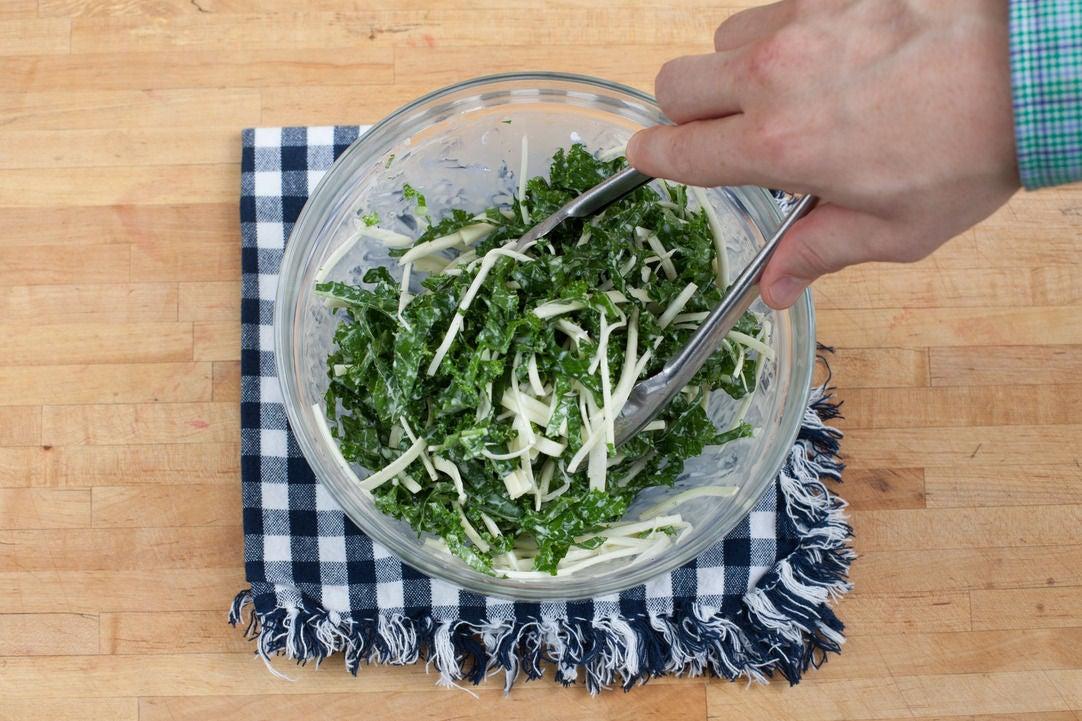 Dress the kale: