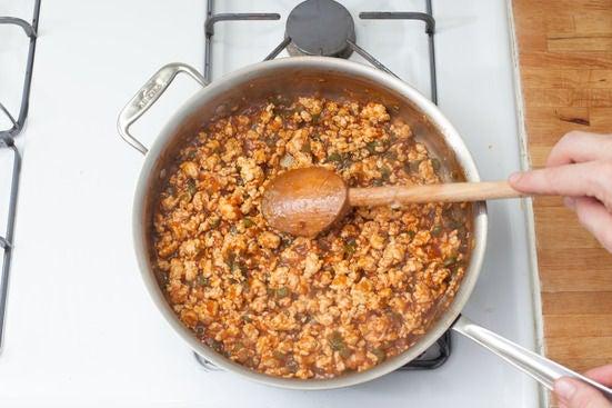 Add the sauce: