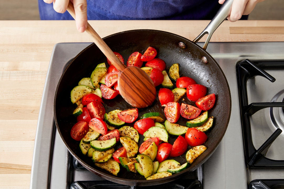 Cook & finish the vegetables: