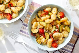 Summer Vegetable Gnocchi with Pecorino Romano Cheese