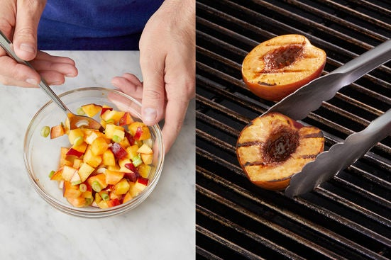 Make the salsa & serve your dish:
