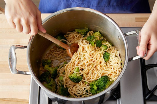 Finish the noodles:
