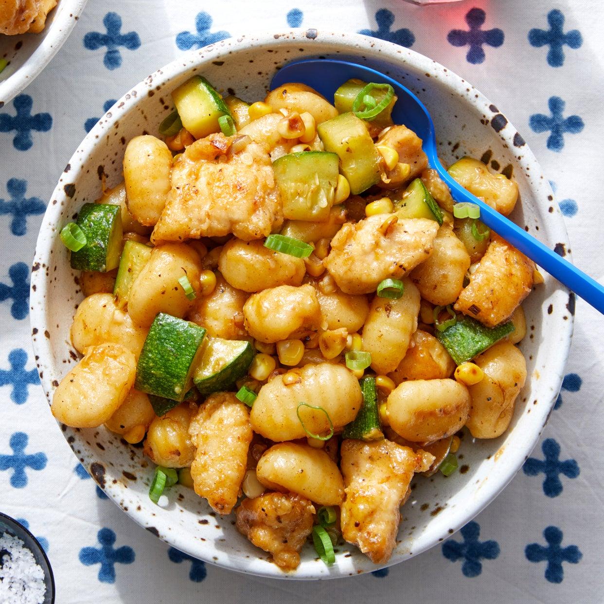 One-Pan Chicken & Gnocchi with Summer Vegetables