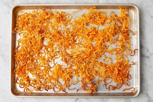 Make the crispy noodles: