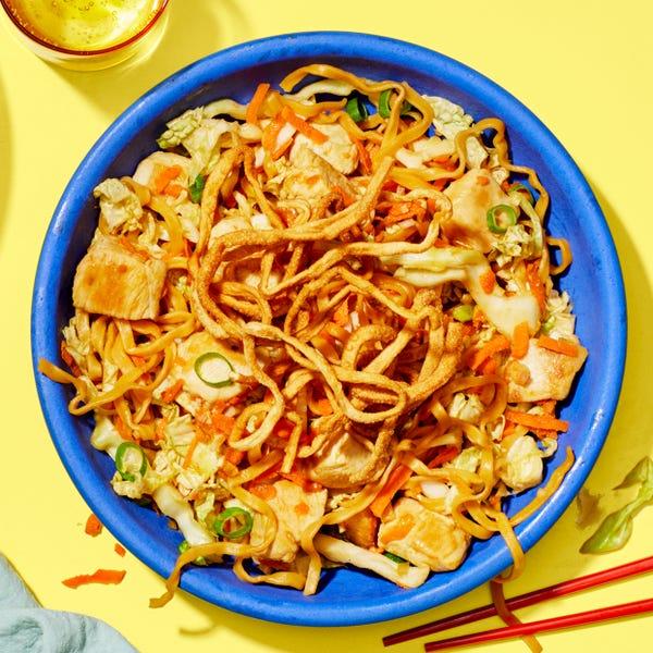 Chrissy Teigen's Chinese Chicken  Salad with Crispy Wontons