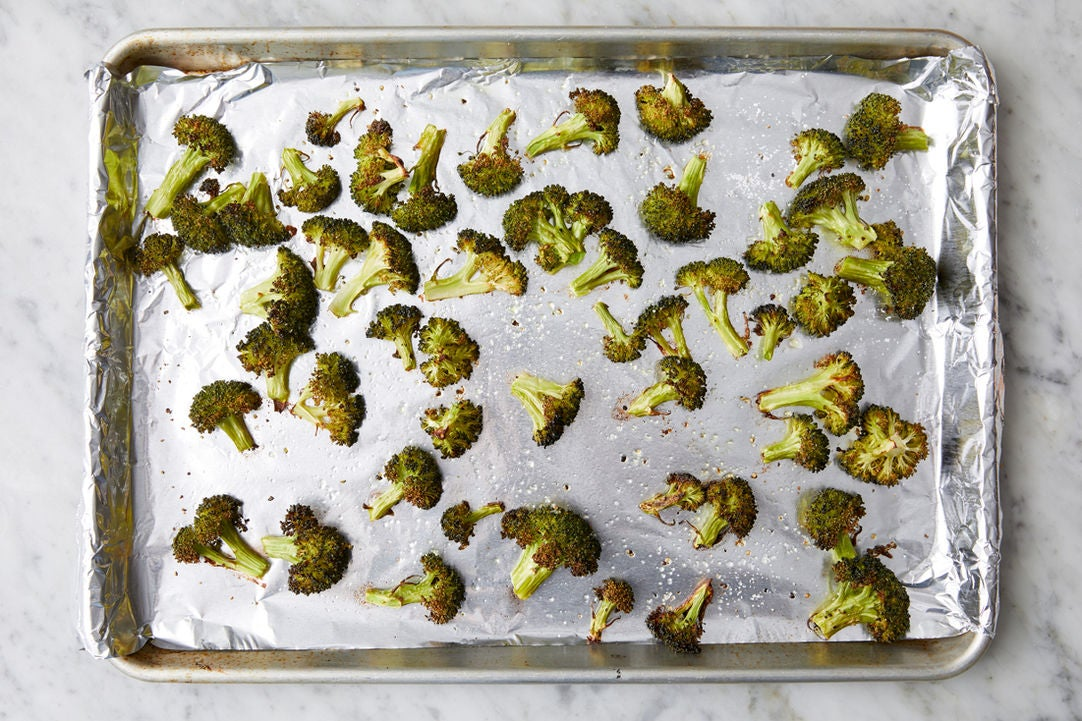 Prepare & roast the broccoli:
