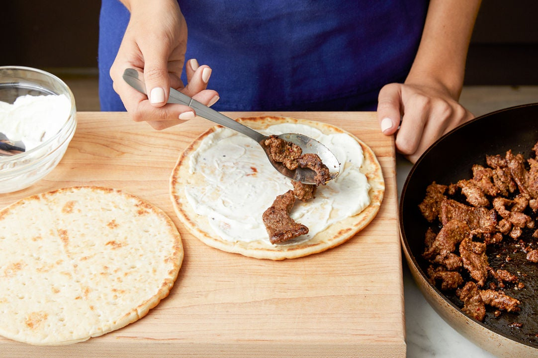 Assemble the wraps: