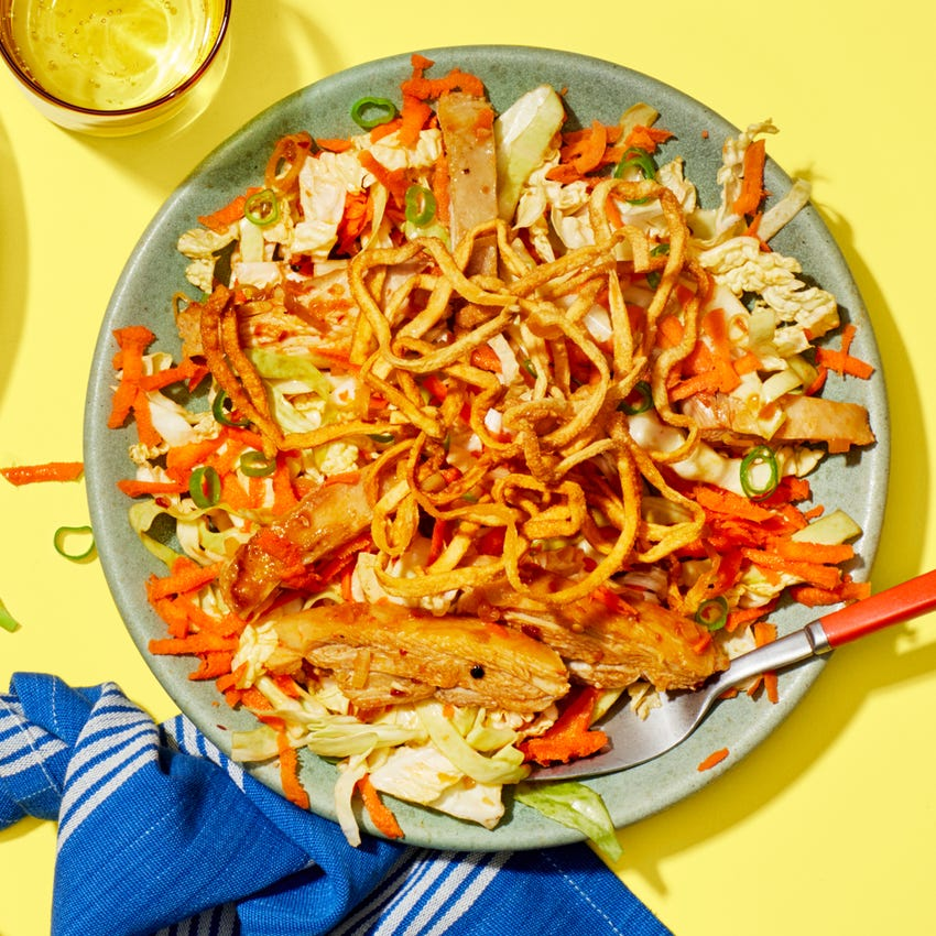 Chrissy Teigen's Chinese Chicken Salad with Crispy Wonton Noodles