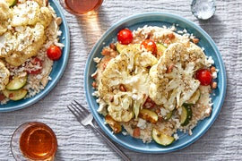 Middle Eastern-Style Cauliflower & Couscous with Zucchini & Tomatoes
