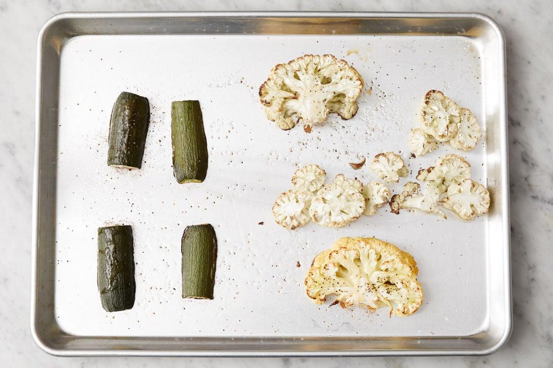 Prepare & roast the vegetables: