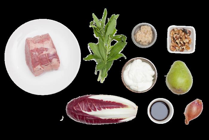 Recipe: Roast Beef with Treviso-Pear Salad & Horseradish Sour Cream ...