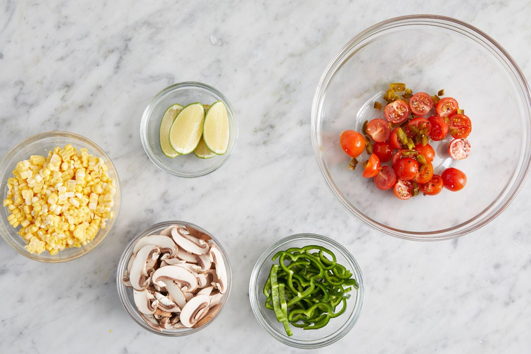 Prepare the ingredients & start the salad: