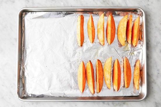 Prepare the sweet potatoes: