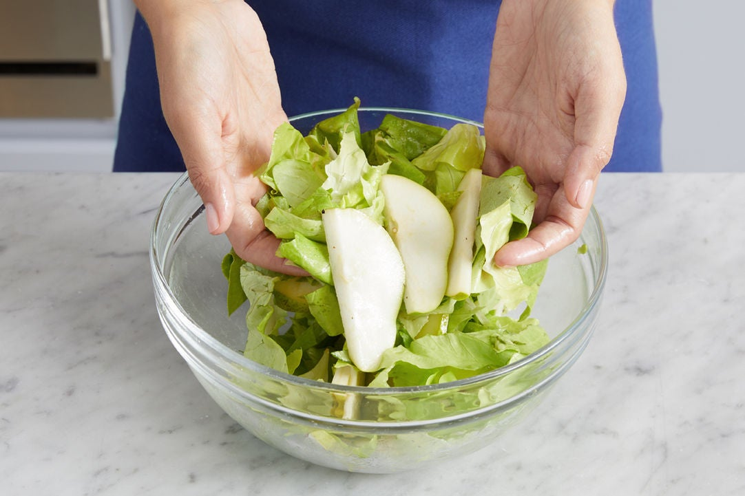 Make the vinaigrette & finish the salad:
