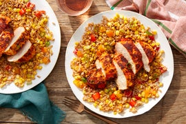 Blackened Cajun Chicken with Creamy Farro & Corn