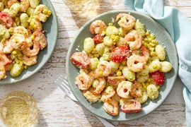 Shrimp & Pesto Gnocchi with Summer Vegetables