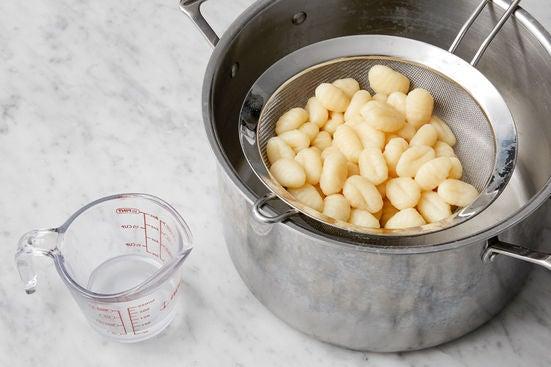 Cook the gnocchi:
