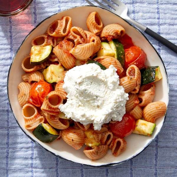 Whole Grain Pasta & Tomato Sauce with Roasted Vegetables & Ricotta