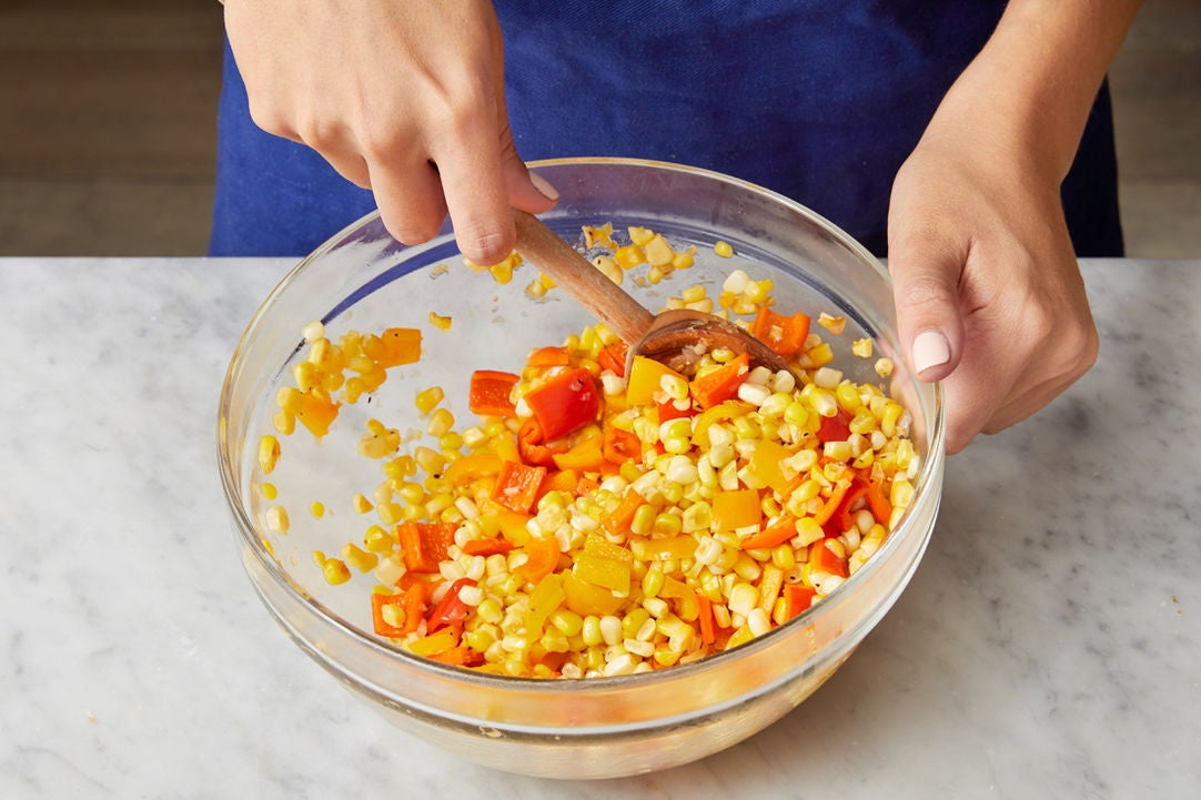 Cook the vegetables & make the salsa: