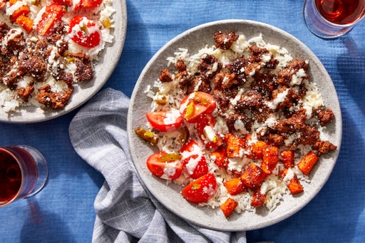 Mexican Beef Bowls with Fresh Salsa &  Cotija Cheese