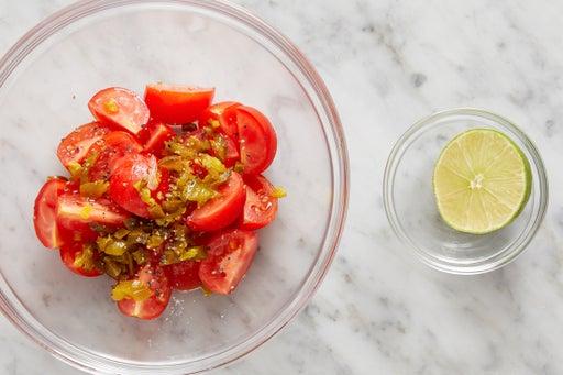 Prepare & make the salsa: