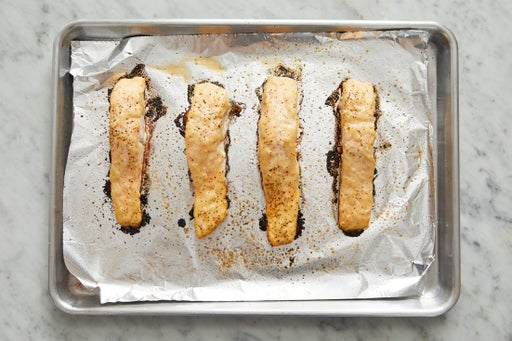 Bake the fish & serve your dish: